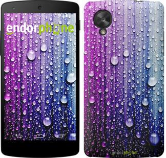 """Чехол на LG Nexus 5 Капли воды """"3351c-57"""""""