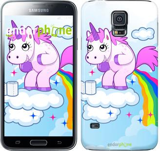 "Чехол на Samsung Galaxy S5 Duos SM G900FD Единорожка ""3796c-62"""