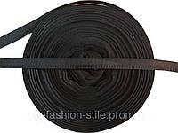 Тесьма брючная, цвет черный 50м в рул.