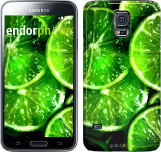 """Чехол на Samsung Galaxy S5 Duos SM G900FD Зелёные дольки лимона """"852c-62"""""""