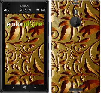 """Чехол на Nokia Lumia 1520 Золотой металлический узор """"746u-314"""""""