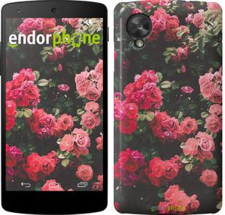 """Чехол на LG Nexus 5 Куст с розами """"2729c-57"""""""