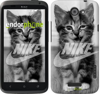 "Чехол на HTC One X Спортивный котик ""2715c-42"""
