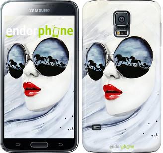 "Чехол на Samsung Galaxy S5 Duos SM G900FD Девушка акварелью ""2829c-62"""