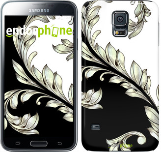 "Чехол на Samsung Galaxy S5 Duos SM G900FD White and black 1 ""2805c-62"""