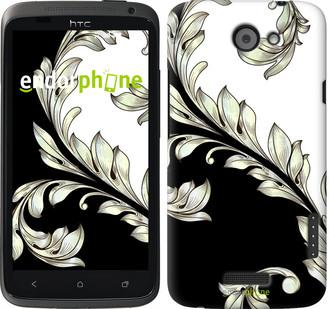"Чехол на HTC One X White and black 1 ""2805c-42"""