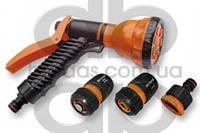Пистолет для полива 7 функций с комплектом арматуры ECO-4440SET