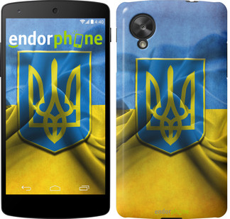 "Чехол на LG Nexus 5 Флаг и герб Украины 1 ""375c-57"""