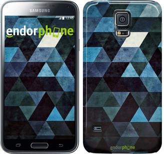"Чехол на Samsung Galaxy S5 Duos SM G900FD Треугольники ""2859c-62"""