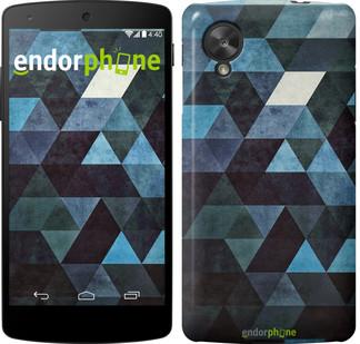 "Чехол на LG Nexus 5 Треугольники ""2859c-57"""