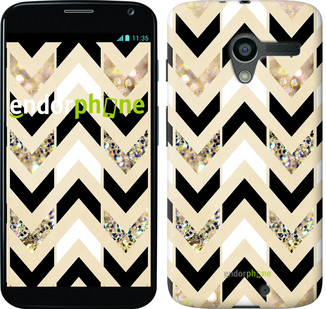 "Чехол на Motorola Moto X Шеврон 10 ""3355u-358"""
