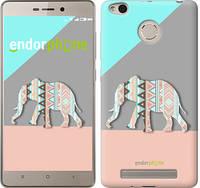 """Чехол на Xiaomi Redmi 3s Узорчатый слон """"2833c-357"""""""