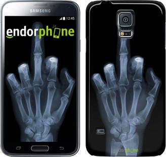 "Чехол на Samsung Galaxy S5 Duos SM G900FD Рука через рентген ""1007c-62"""