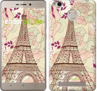 "Чехол на Xiaomi Redmi 3s Романтика Парижа ""2064c-357"""