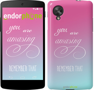 "Чехол на LG Nexus 5 Памятка для девушек ""3701c-57"""