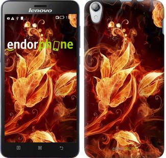 """Чехол на Lenovo P780 Огненные цветы """"1100u-305"""""""