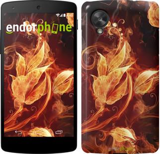 """Чехол на LG Nexus 5 Огненные цветы """"1100c-57"""""""