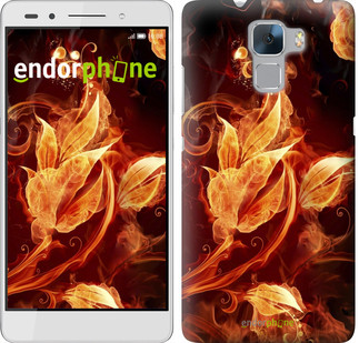 """Чехол на Huawei Honor 7 Огненные цветы """"1100u-138"""""""