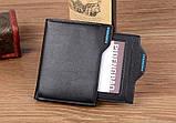 Мужской кошелек Pidengbao Brown с правником, фото 4
