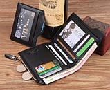 Мужской кошелек Pidengbao Brown с правником, фото 7
