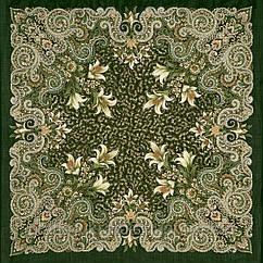 """Платок шерстяной с шерстяной бахромой """"Морозко"""", 125х125 см. рис 23-10"""