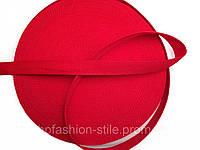 Тесьма сумочная, цвет красный, ширина 2.5 см (50м в рул. )