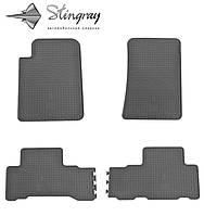 Килимки гумові Ссанг йонг Рекстон II в 2006- Комплект из 4-х ковриков Черный в салон. Доставка по всей Украине. Оплата при получении