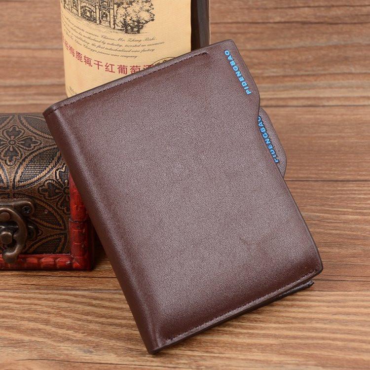 Мужской бумажник Pidengbao Brown с правником