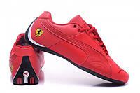 Красные  стильные кроссовки  puma ferrari low red