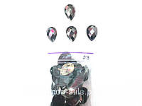 Камни пришивные, цвет гематит, диаметр 2см (50шт в упаковке)