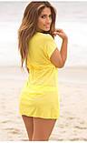 Желтая туника на пляж, фото 2