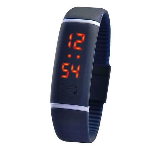 Стильные спортивные LED часы браслет. Синие.