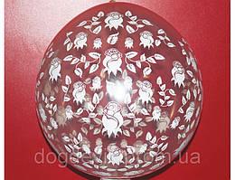 """Воздушные шарики """"Розочки"""" прозрачные кристалл для подарков 18"""" (45 см). Шар упаковщик ."""