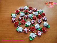 Гирлянда с розами с атласной ленты для дня рождения, свадьбы и других праздников