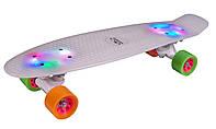Скейтборд (пенни борд) Hudora Retro Rainglow (Германия)