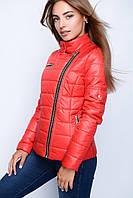 Стильная женская  куртка красного цвета весна - осень по низким ценам