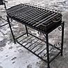 Мангал кованый садовый на 18 шампуров (жаровня + стойка) сталь 4 мм