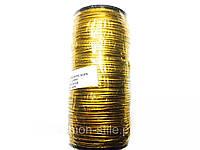Резинка шляпная, цвет золото 2 мм, 100м в бобине