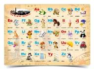 """Алфавит А3 английский алфавит, украинский алфавит, таблица умножения, """"Рюкзачок"""" УП-40"""