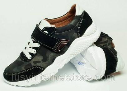 5c399c2e0 Детские кроссовки кожаные 32-39 на липучке, обувь детская от производителя  модель ДЖ-