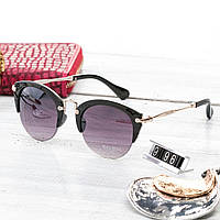 Женские брендовые очки Miu Miu Миу Миу черные круглые