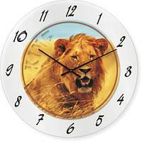 Часы настенные из стекла - лев (немецкий механизм)