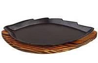 Тарелка чугунная листик JLX-6093
