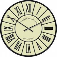 Часы настенные из стекла - класицизм (немецкий механизм)