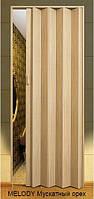 Двери-гармошки Melody Мускатный орех   2030х820 мм