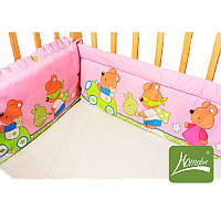 Мягкие бортики по периметру детской кроватки