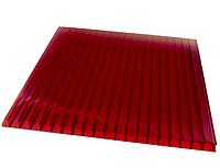 Поликарбонат сотовый OSCAR 4 мм Красный