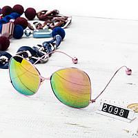 Женские брендовые очки Шанель Chanel розовые с цветными стеклами