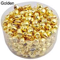 Маленькие колокольчики, бубенчики (25 шт.) Цвет: золотистый