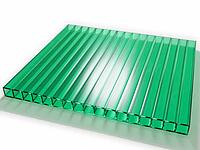Поликарбонат сотовый OSCAR 4 мм Зеленый